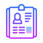 Business card website icon